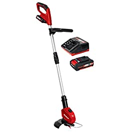 Einhell Coupe-bordures sans fil sur batterie GE-CT 18 Li Kit Power X-Change (18 V/2,0 Ah, Diam. de coupe lame 24 cm) VERSION KIT, LIVRE AVEC 1 BATTERIE ET 1 CHARGEUR