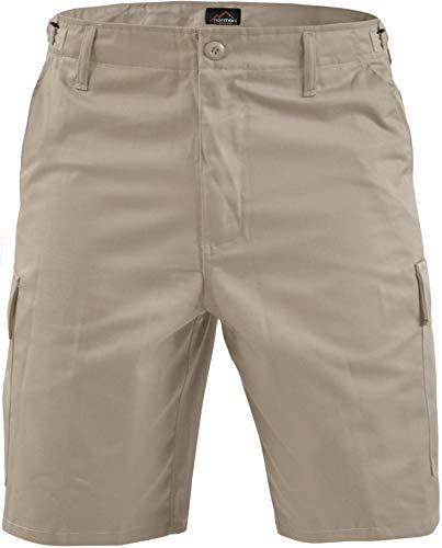normani Kurze Bermuda Shorts US Army Ranger Feldhose Arbeitshose S - XXXL Farbe Beige Größe 6XL