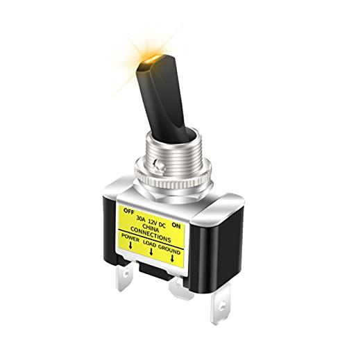 SHIYONG Interruptor de Palanca LED automotriz SPST ON Off 2 Posiciones 3 Pines para automóvil, camión, Barco, ATV para automóvil