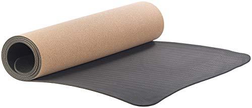 Newgen Medicals Yogamatte: rutschfeste Yoga-Matte aus Kork und Natur-Kautschuk, 183 x 61 x 0,5 cm (Sportmatte)