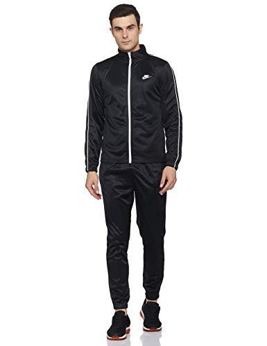 Nike Men's Warm UP Tracksuit (BV3035-010_Black White_Large)