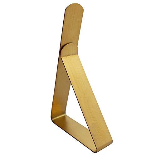 DSJJ Tischtuchklammern Edelstahl, Tischdeckenklammer Tischabdeckung Klemmen Tischdecke Clips Tischtuch Clips 12 Stück (Gold)