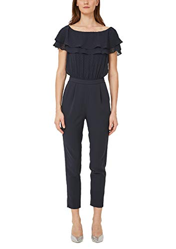 s.Oliver BLACK LABEL Damen 70.905.85.5521 Jumpsuit, Blau (Luxedo Blue 5944), (Herstellergröße: 36)