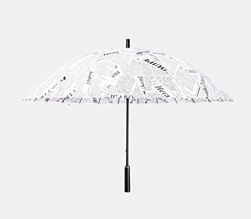 Kreative Zeitung Regenschirm 24 Knochen Erhöhung Winddicht Langhand-Regenschirm Herren Sunny Regenschirm Double Sun Regenschirm