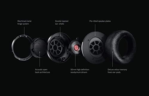 Philips Fidelio Kopfhörer X2HR/00 Over-Ear Kopfhörer High-Resolution Audio (50-mm-Hochleistungs-Neodym-Treiber, Deluxe-Schaumstoff-Ohrpolster, Kabelclip) schwarz
