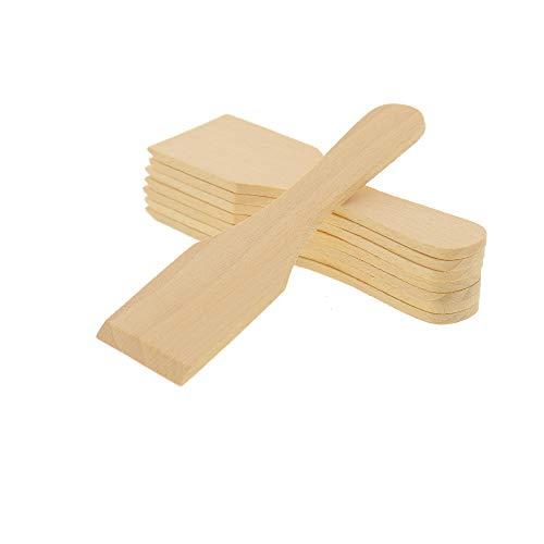 8X HOFMEISTER® Raclette-Schaber aus Holz, 13 cm, schont beschichtete Raclette-Pfännchen, hitzebeständiger Raclette-Spachtel aus Europa, stabiles Raclette Zubehör aus heimischer Buche