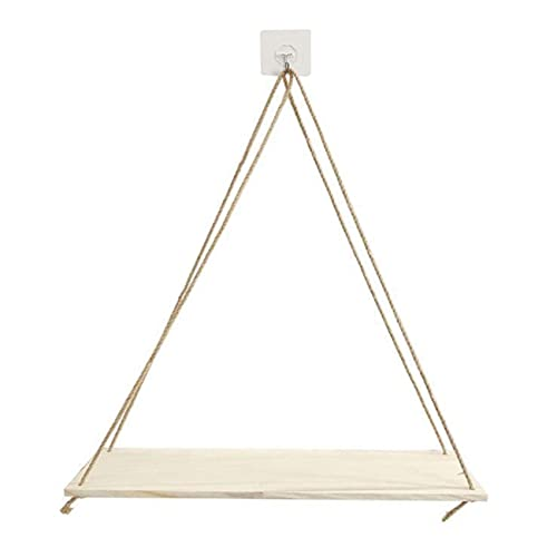 Ashley GAO Hanging Rope Rack for Wall Decoration Easy to Hang Modern Or Rustic Home Kitchen Wood Decoration Rack