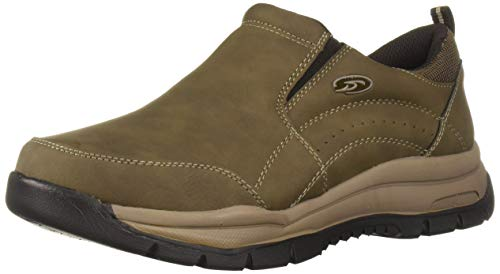 Dr. Scholl's Shoes Men's Vail Sneaker, Dark Taupe, 10 W US