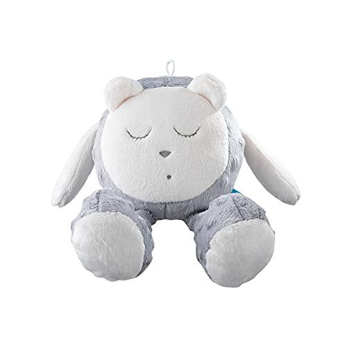 myHummy avec capteur Ourson Snoozy Gris Blanc Premium   Peluche Bruit Blanc bébé   Machine à Bruit Blanc - Battement Coeur Bruit des Vagues   My hummy avec capteur de Sommeil Peluche endormissement