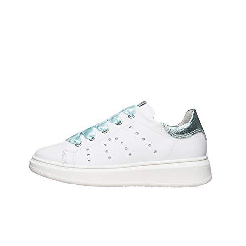 Nero Giardini E031551F Sneakers Teens da Ragazza in Pelle - Bianco 28 EU