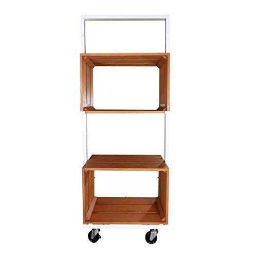 Tumiki Series - Armario de madera con ruedas (abierto, 60 x 150 cm)