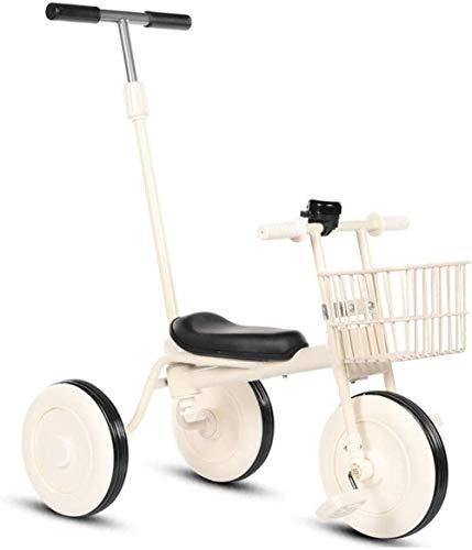 Pushchairs Kinderschommelende Paardentrikes driewieler kinderwagen driewieler met drukknop handvat peuter fiets peuter 2 in 1 Trike driewielers met kinderen 1-3-6 jaar baby producten