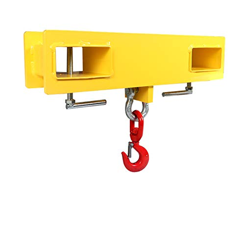 Sulythw Forklift Lifting Hoist Swivel Hook Mobile Crane 4000LB Capacity Lift Attachment Heavy Duty Steel Yellow