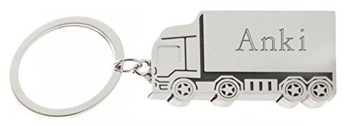 SHOPZEUS gravierter Metall Lkw Schlüsselanhänger mit Aufschrift Anki (Vorname/Zuname/Spitzname)