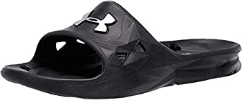 UNDER ARMOUR Men s Locker III Slide Sandal Black  001 /Metallic Silver 10