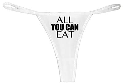 All You Can Eat   High Quality Sexy Thong Underwear (White Color) SMALL SIZE