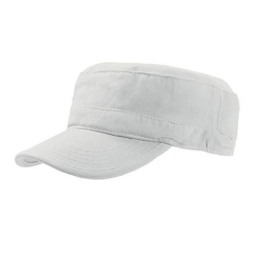 Atlantis Tank Military Cap Brushed Cotton - White - OS