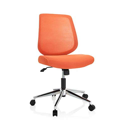 hjh OFFICE 740005 Bürostuhl Chester W Stoff/Netz Koralle Home-Office Drehstuhl ohne Armlehnen, Wippfunktion