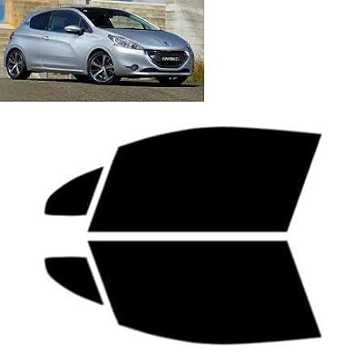 Tintcom.com Film Solaire Vitres Teintées pour-Peugeot 208 3-Portes 2012-. - Vitres Avant (35% Noir Fumé Moyen)