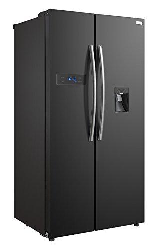 Russell Hobbs RH90FF176B-WD American Style Fridge freezer, 90cm wide, Side by Side, F efficiency, 2 Year Warranty** (Black)