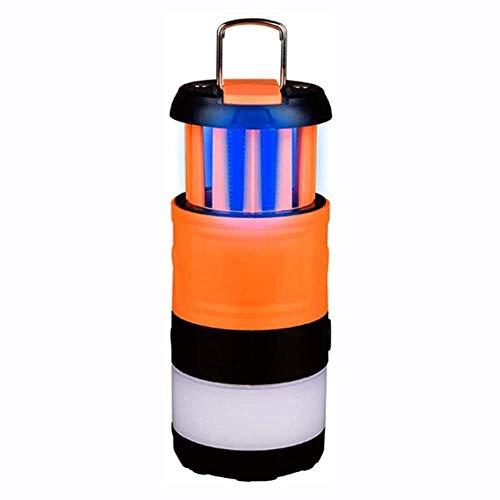 SDlamp LED Ricaricabile Tenda da Campeggio Luce con Bug Zapper, 3 in 1 Lampada da Campeggio Lanterna a LED Estensibile, 5 modalità Luminosità Lampada da Campeggio, Lanterna Ricaricabile
