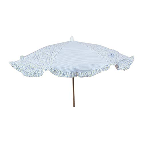Sombrilla Universal para Coche/Silla de paseo Rosy Fuentes Elaborado en Estampado de flores - Color celeste