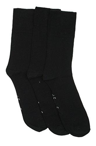 Drew Brady Herren Socken Knöchelhoch Schonender Halt Nicht Elastisch - Einfarbig Schwarz, EU 39-45