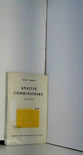 Analyse combinatoire, tome 2