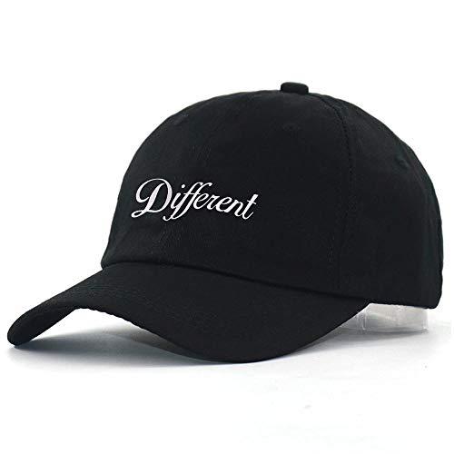 Gorra Bordada Diferente Gorra de Béisbol Hombres 100% Algodón Negro Moda Papá Sombrero Mujeres Hip Hop Snapback Sombreros Nuevo