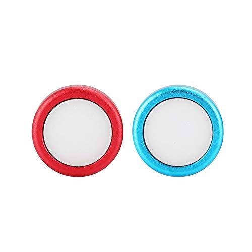 Mano de Obra Delicada Tapa de botón de 2 Piezas para Palanca de Mando del Controlador de Juego del Interruptor(1 Blue 1 Red)