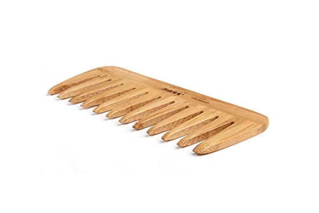 テスト吸うラベンダーBass Brushes | Grooming Comb | Premium Bamboo Teeth and Handle | Wide Tooth Style | Dark Finish | Model W2 - DB [並行輸入品]
