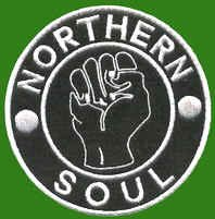 Aufnäher, Am Iron on Patch Northern Soul Fist Scooter Ska Badge