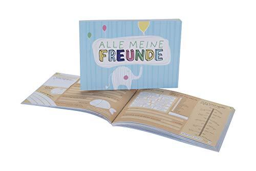 Alle meine Freunde | Hochwertiges Freundebuch für Mädchen und Jungen zum Ausfüllen und Ausmalen im DIN A5-Format: | Poesiealbum für Kinder in der Schule und Kindergarten mit fröhlichen Tieren