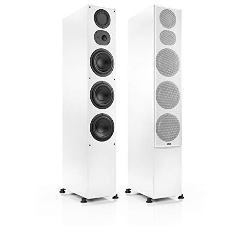 Nubert nuLine 334 Standlautsprecherpaar | Lautsprecher für Stereo & Musikgenuss | Heimkino & HiFi Qualität auf hohem Niveau | Passive Standboxen mit 3 Wegen Made in Germany | Standbox Weiß | 2 Stück