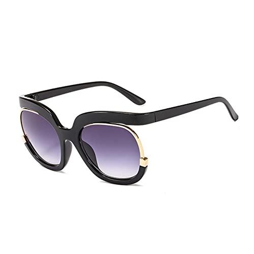 LUOXUEFEI Gafas De Sol Gafas De Sol De Media Montura De Gran Tamaño Para Mujer, Montura Grande Cuadrada, Gafas De Sol Negras Para Mujer