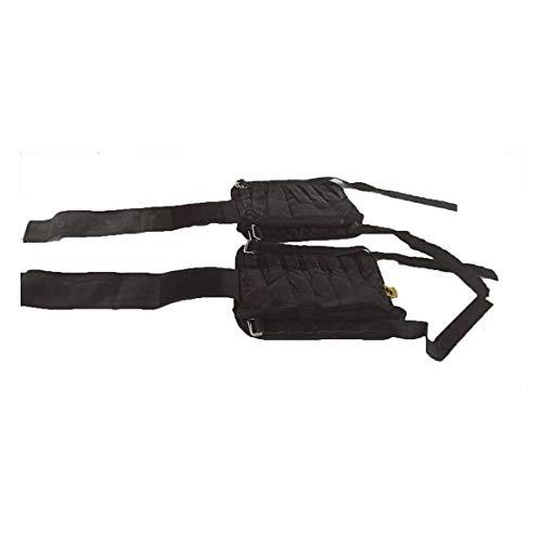 Paperllong - Fußgelenkmanschetten für Krafttraining in schwarz, 15-20kg