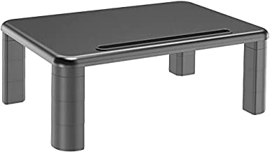 HUANUO Adjustable Monitor Stand Riser - 3 Height Adjustable Computer Monitor Stand with Phone Holder for Desk, Printer, Laptop, Computer Monitor Riser for Home & Office Use