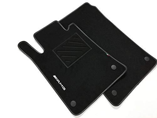 Tappetini compatibili per SLK R171 dal 2004 al 2011- in Moquette con 1 Logo Ricamati e battitacco