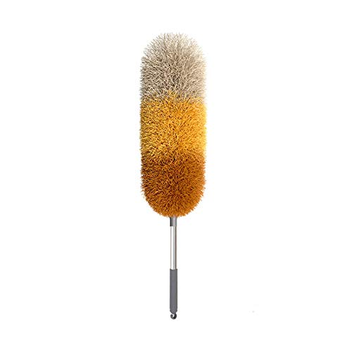 Duster Telescoping Duster, Microfiber Extendable Cobweb Duster, Scratch-Resistant Cover, Stainless Steel Pole, Detachable Bendable Head, Washable Duster for Cleaning
