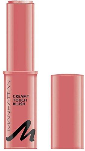 Manhattan Creamy Touch Blush – Apricot Rouge in trendiger Stiftform für schnelles Auftragen – Farbe Creamy Coral 2 – 1 x 9,07g