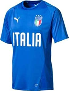 PUMA Mens 75231612 FIGC Italia Training Jersey Ss Short Sleeve Shirt - White