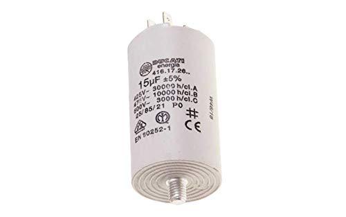 Condensateur Permanent 15 Mf 450v Pour LAVE LINGE DIVERS MARQUES