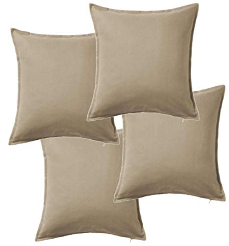 IKEA GURLI 202.811.36 Pack of 4 Cushion Covers 50 x 50 centimetre Beige