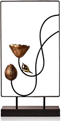 JYHH Ornaments Escultura moderna decoración del hogar entrada TV soporte expositor creativo diseño creativo (diseño, B), A (color: A) (color: B)