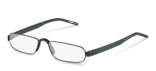 Gafas de lectura Rodenstock unisex R2180, gafas unisex con lentes antirreflejo de montura completa, gafas rectangulares con montura ligera de acero inoxidable, para la hipermetropía