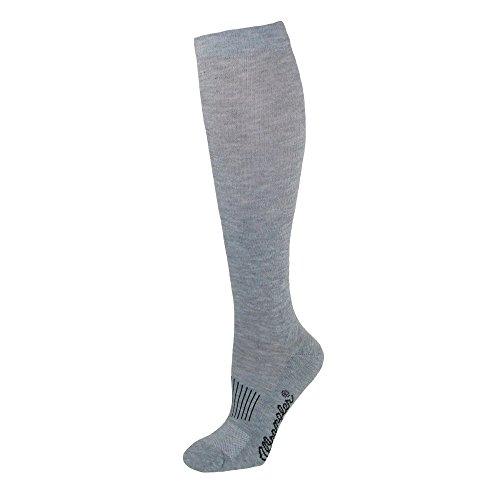 Wrangler Men's Dry Wick Western Mid Calf Boot Sock (Pack of 3), Grey