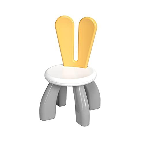 KORIMEFA Sedia in Plastica per Bambini, Perfetta Aggiunta al Tavolo da attività per Bambini per Ragazzi e Ragazze per Costruire Blocchi (Grigio)