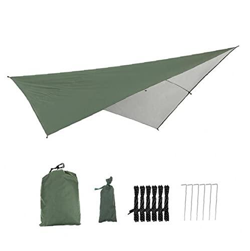XKJFZ Camping Fly Tarp Impermeable UV Block Shade Sail Spead Rectangular Ligero Tienda Paraguas, Toldo del jardín