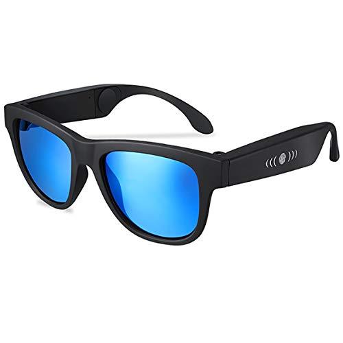 MARXIAO Smart Audio Occhiali da Vista, Occhiali da Sole Bluetooth di Open Ear Occhiali da Sole Bluetooth per Ascoltare Musica E Telefonare,B