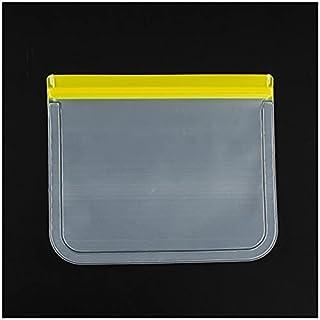 FSHB 10 pièces Sac de congélation réutilisable Silicone Sac de Stockage des Aliments étanche Sacs de Fermeture à glissière...